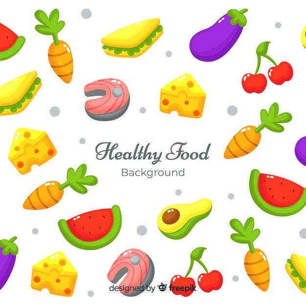 Download Flat Healthy Food Background For Free Food Backgrounds Colorful Vegetables Food Banner