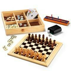 """7-IN-1 WOODEN GAME SET ■ Includes chess, cambridge, backgammon,  checkers, dominoes, playing cards and dice;  wood/paper, ages 6 and up, 10.25"""" x 10.25"""" x 1.75"""", $29.99 Visit my online store @ www.youravon.com/amartinez8866"""