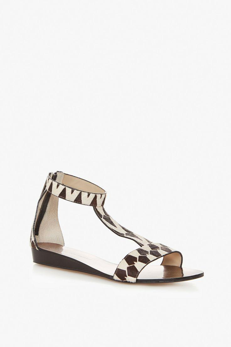 Faux Fur Printed Sandals | Adolfo Dominguez