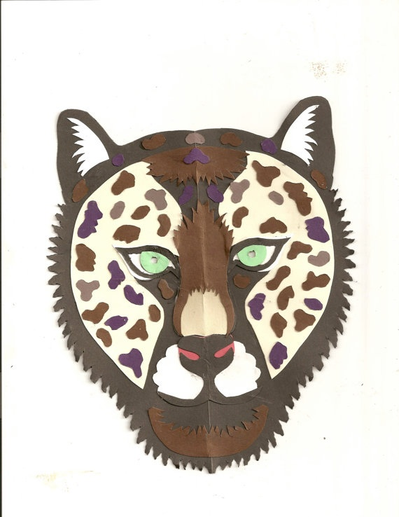 The Jungle Book Panther mask is made from cut by CarolynCorner, $5.00