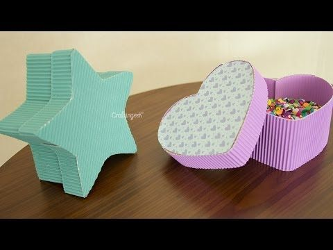 Manualidad regalo : cajita corazón. Heart Box - YouTube