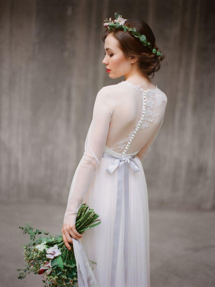 Романтичное свадебное платье с рукавами Агния (Миламира)