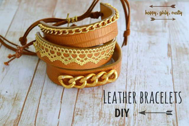 Leather cuff bracelets DIY!