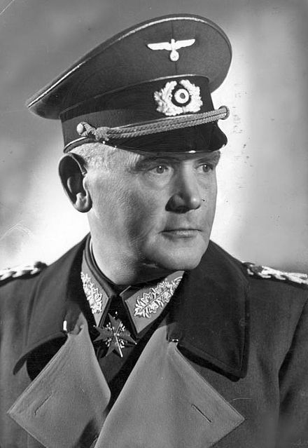 Werner Eduard Fritz von Blomberg (2 September 1878 – 14 March 1946) was a German Generalfeldmarschall, Minister of War and Commander-in-Chief of the Armed Forces until January 1938.