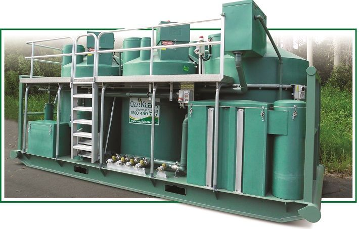 On-site sewage treatment plant - skid mounted for easy relocation