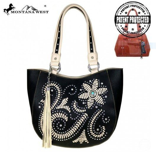 Montana West Concho Collection Concealed Handgun Collection Tote #westernfashion#concealedcarryhandbags #westernsoul  #concealedcarrypurses #westernpurses