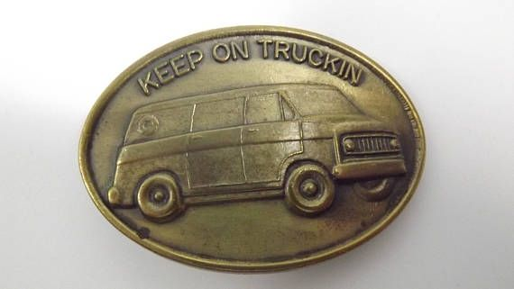 Vintage Keep on Truckin Collectible Belt Buckle Automotive