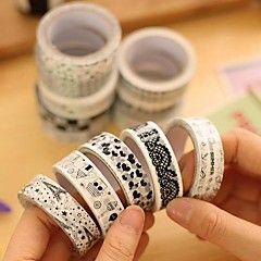 zwarte en witte decoratieve tape (willekeurige kleur 1 stuks... – EUR € 1.99