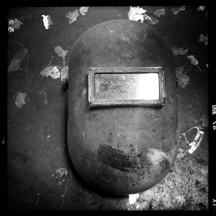 #Welders mask @ Groll Ironworks - #Pittsburgh #blacksmith