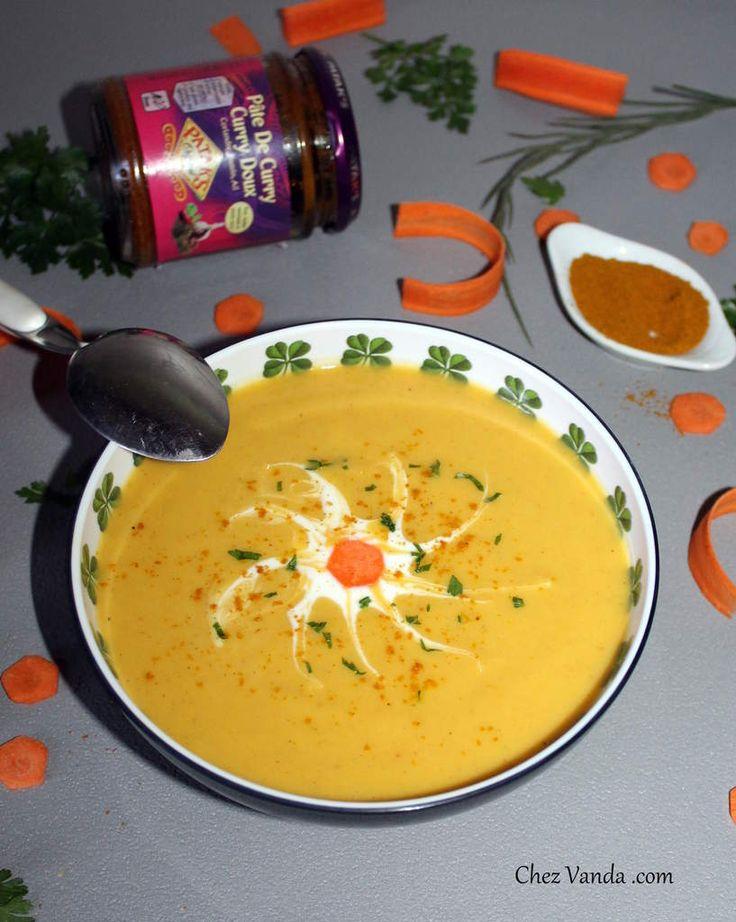 Velouté de chou fleur et carottes au curry | Velouté chou fleur, Soupe choux fleur et Chou fleur