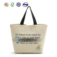 Customized promotion recycle organic cotton canvas tote bags wholesale
