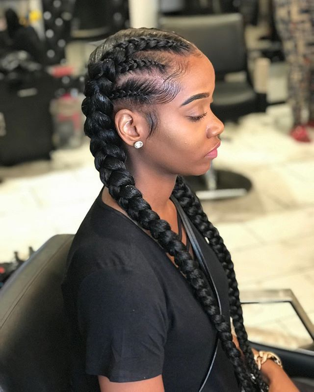 Missteyanna No Dms Tossed On Instagram 2 Braids With A Twist Tossed Tossedtresses Feed In Braids Hairstyles Two Braid Hairstyles Natural Hair Styles