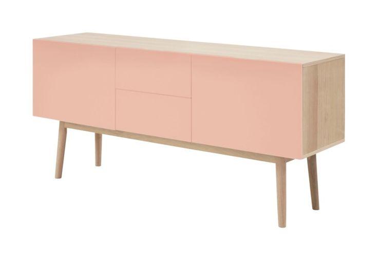 Deens dressoir zacht roze