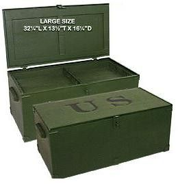 Military Foot locker - Large