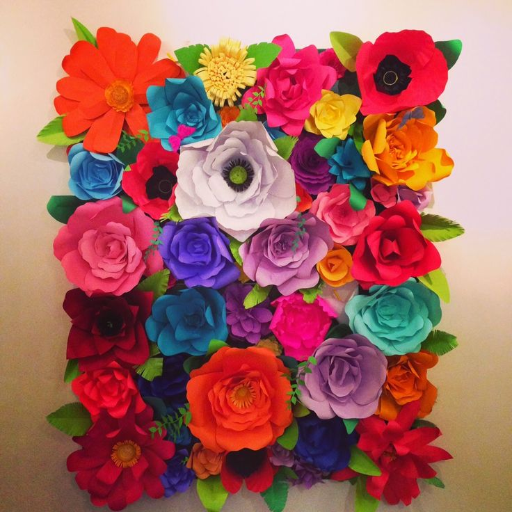 Cute flower backdrop for a fiesta photo shoot or event