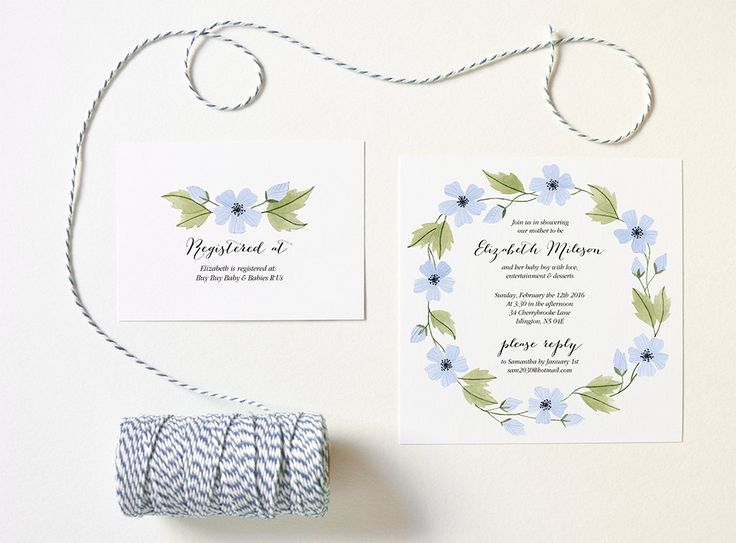 24 best Hand-drawn Invitations images on Pinterest Baby shower - invitation template nature