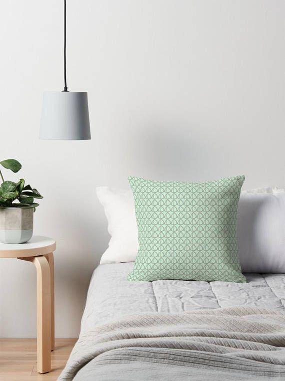 Grey throw pillow Mint Cushion Grey Pillow cushion