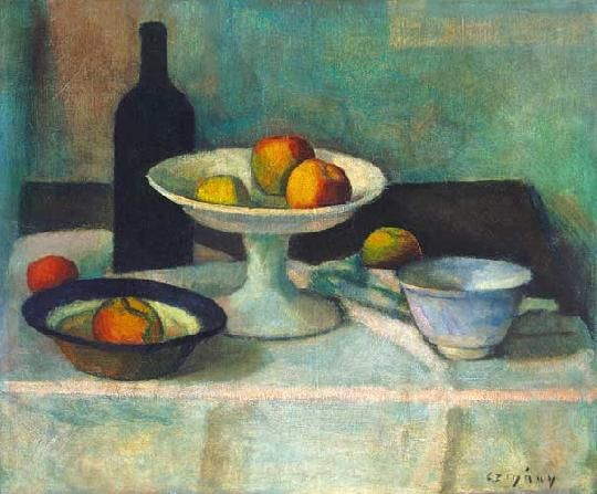 Czigány Dezső (1883-1938) Csendélet Olaj, vászon, 54,5x66 cm