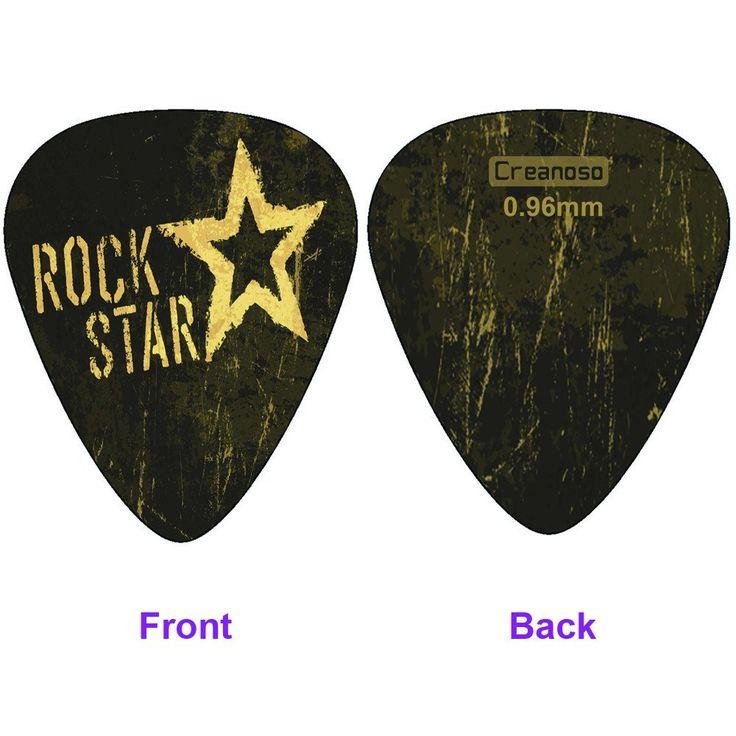 ... Creanoso Cool Guitar Picks (12pc)- Assorted Light Medium Heavy Gauge - for Acoustic ...