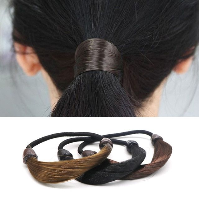 Patchwork Wig Elastic Hair Bands Fashion Accessory For Hair