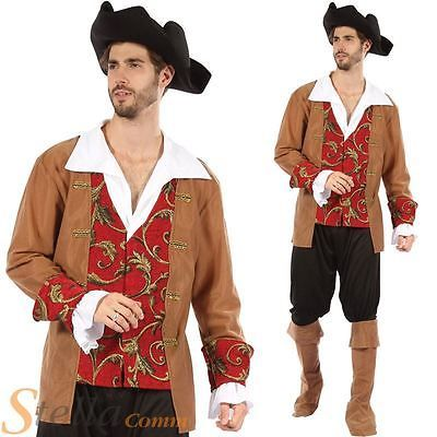 Mens #pirate fancy #dress costume navy ship admiral #commander caribbean + hat,  View more on the LINK: http://www.zeppy.io/product/gb/2/400954055105/