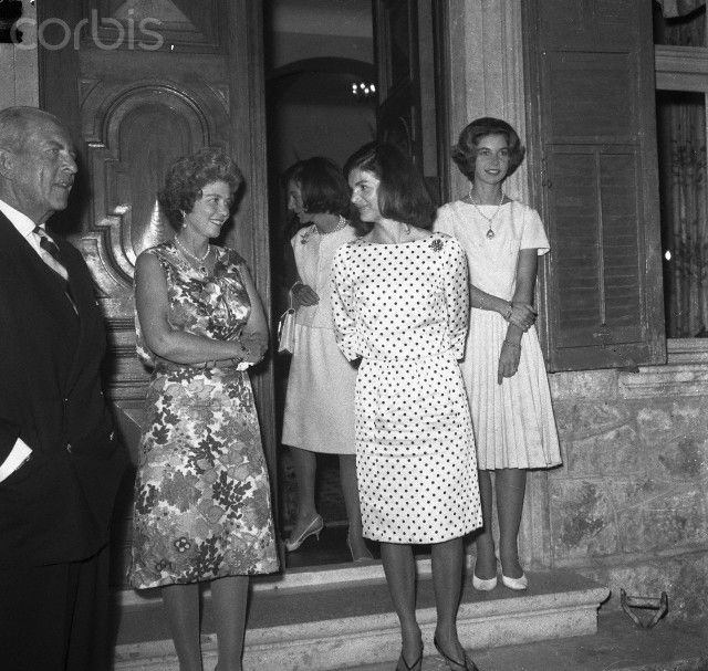 Jacqueline Kennedy Conversing with Queen Fredericia