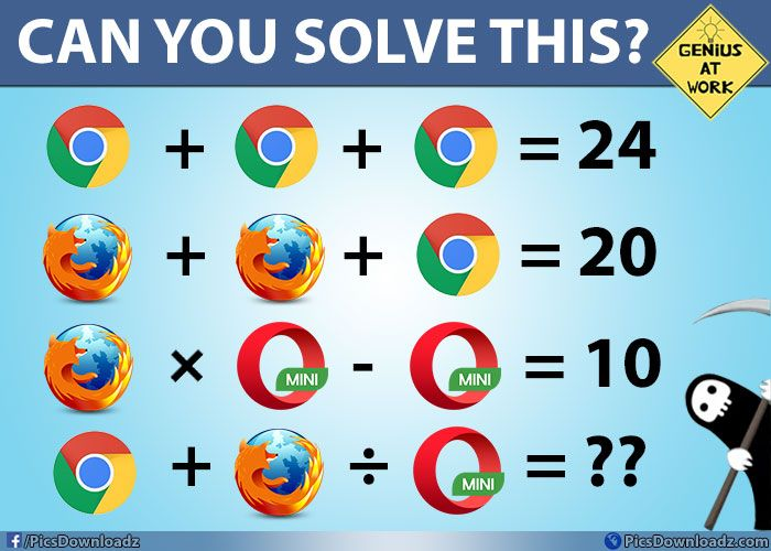 Solve this if you are Genius - Only for Geniuses Brainteaser Puzzles Image with Answer!  Hello, Friends! Welcome back, I always looking for something new and interesting mind blowing puzzle and tricks over the internet.    Well, Today I comes