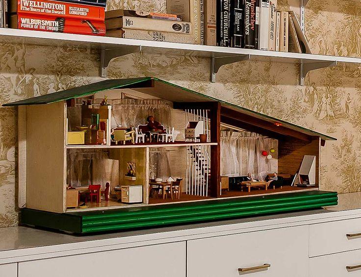 mid century modern dollhouse furniture. Stunning Mid-century Modern Toronto Time Capsule House By Architect Gardiner Cowan. Doll MiniaturesMiniature Mid Century Dollhouse Furniture