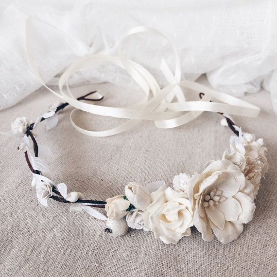 Floral crown Bridal flower crown First communion by SERENlTY