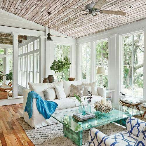Sun room off of the dinning room More Image source Aqua, Grey and coral Montana home Mason jar set | rustic home decor Image source Summer colors and decor inspired by coastal living. Create a beachy yet sophisticated living space… Continue Reading →
