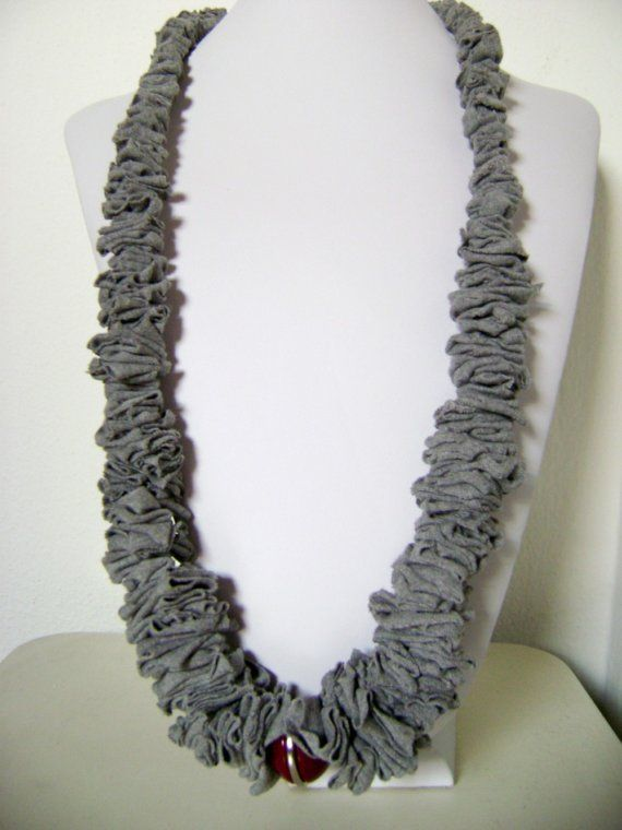recycled t shirt necklace - etsy