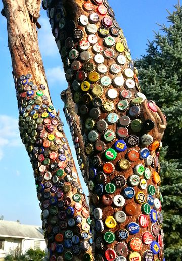 Similar for the fingerpost? ~ ! !Kelli Nina Perkins: Bottle Cap Tree