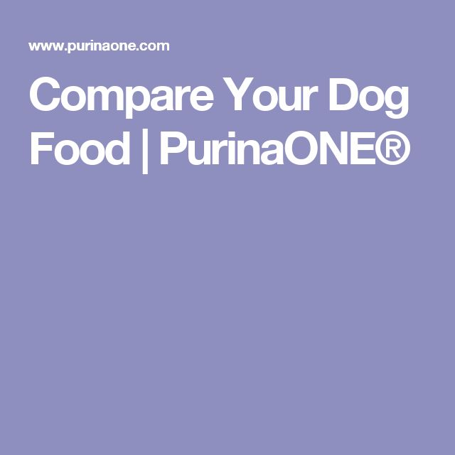 Compare Your Dog Food | PurinaONE®