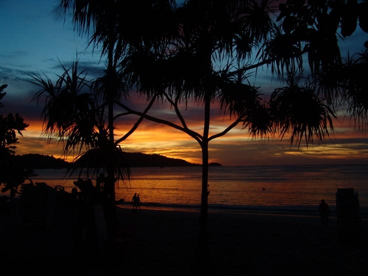Sunset on Kata Beach,  Phuket, Thailand