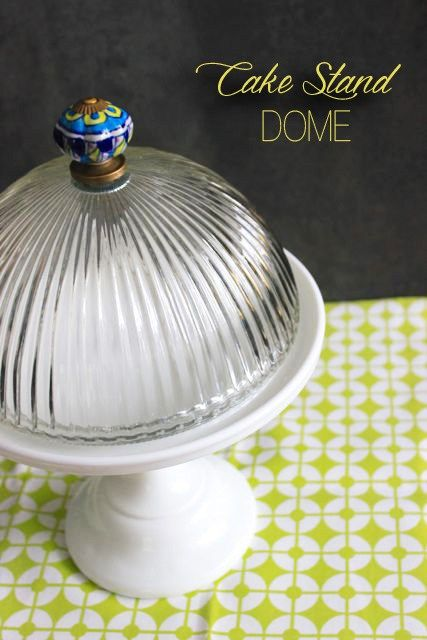 Of course! Make a dome top for a cake stand with a light fixture and a knob!
