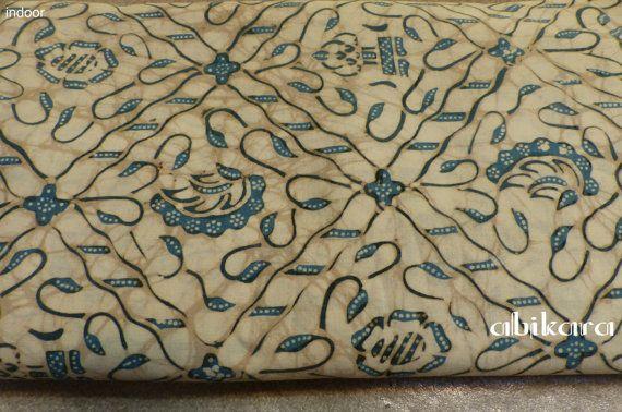 Batik Fabric / Javanese / Indigo / Cotton / Natural by Abikara