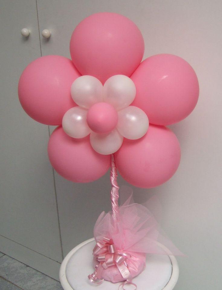 Decoraci�n con globos en flor