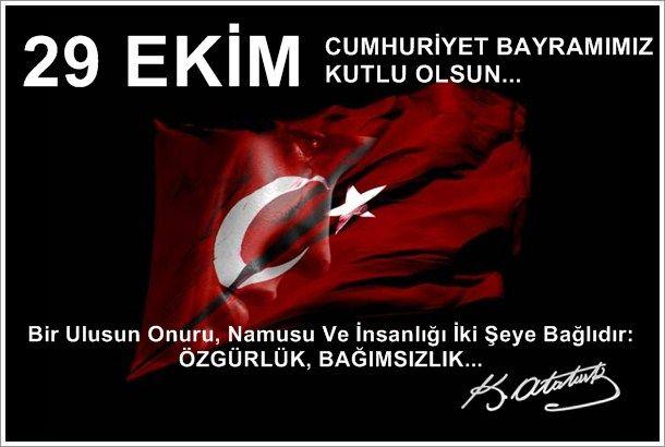 29 Ekim Cumhuriyet Bayramı Resimli Mesajlar, Kutlama Mesajları - Resim 16
