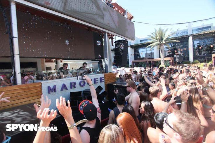 Marquee Dayclub at the Cosmopolitan Las Vegas casino is the best summer pool party spot. #marquee #cosmopolitan-lasvegas