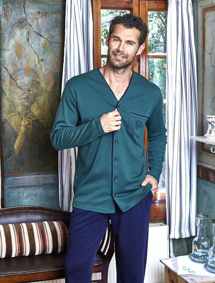 PJS Düğmeli Pijama Takım 8811 #gizliçekmece #erkekgiyim #pijama #yenisezon #evgiyim #erkek
