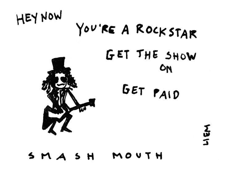 Smash Mouth. All Star. 365 illustrated lyrics project, Brigitte Liem