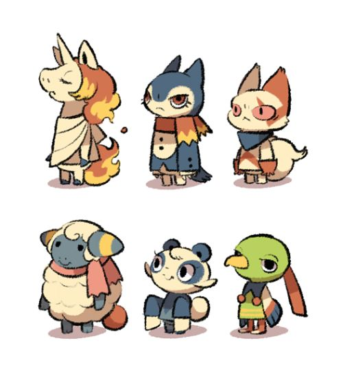 Villagers on the top side seems to be unhappy. (Dec 11 update)I forgot to say, I made a short cut so you can find these pokemon villagers on my page easier!