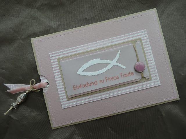 Jenny's Papierwelt: ~ Einladungskarten für Finjas Taufe & Ab in den Urlaub - Sommerpause ~