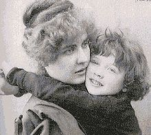Cyril Wilde with his mother Constance in 1889 - Oscar Wilde's wife and child