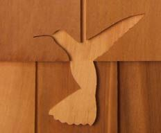 Hummingbird Shingle Carving