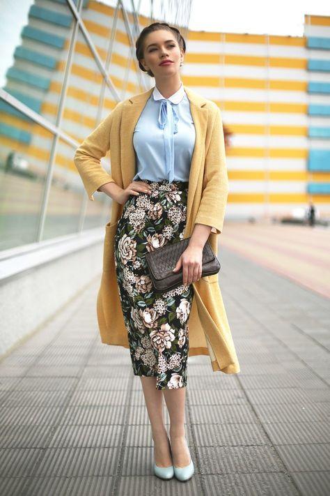 I love midi pencil skirts!