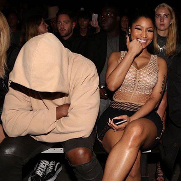 Kanye West dort pendant un défilé à la Semaine de mode de New York et Nicki Minaj publie cette photo! | HollywoodPQ.com
