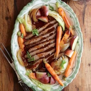 Slow Cooker Beef and Cabbage with Potatoes and Carrots | MyRecipes.com