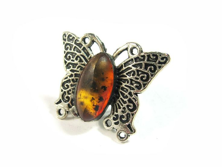 sOWLshine handmade jewelry - ring with baltic amber