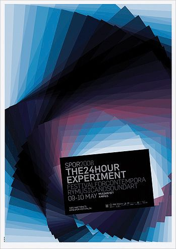 """The24hourexperiment"" Festival poster (A1), with graphic composition of sky transformations measured in intervals of 60 minutes within a period of 24 hours"
